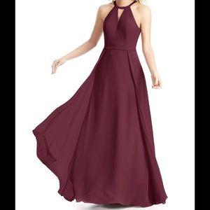 Floor length Cabernet dress